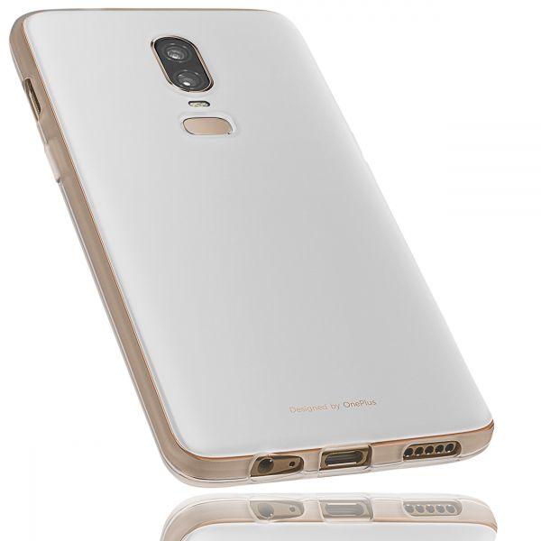 TPU Hülle weiß transparent für OnePlus 6