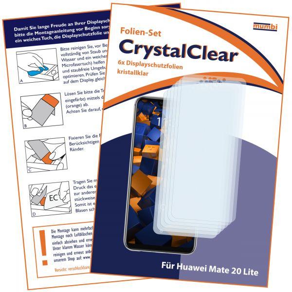 Displayschutzfolie 6 Stck. CrystalClear für Huawei Mate 20 Lite