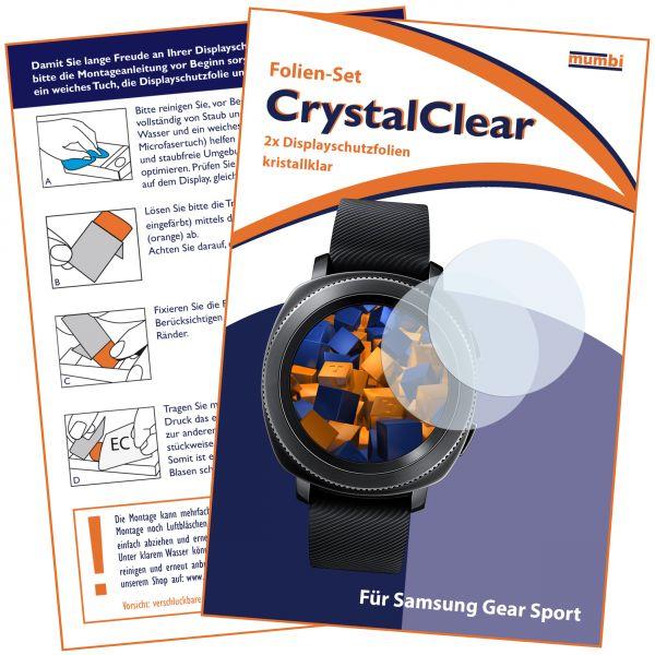 Displayschutzfolie 2 Stck. CrystalClear für Samsung Gear Sport
