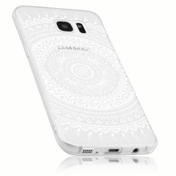 TPU Hülle transparent Motiv Mandala für Samsung Galaxy S7 Edge