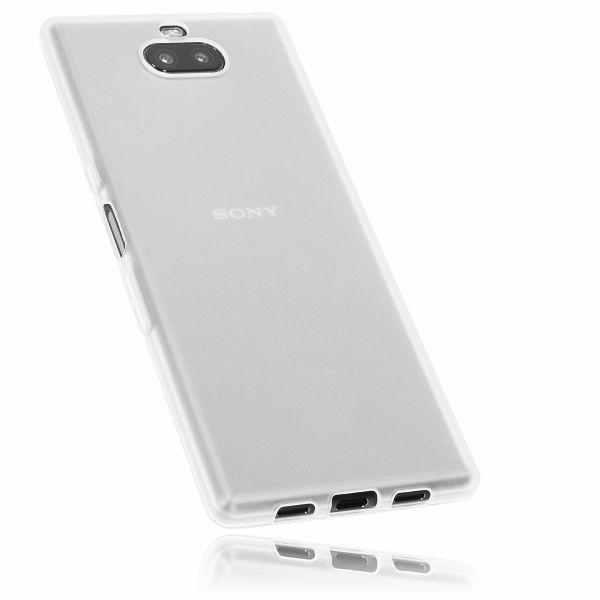 TPU Hülle weiß transparent für Sony Xperia 10 Plus