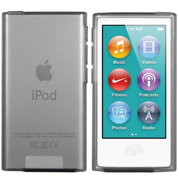 TPU Hülle schwarz transparent für Apple iPod Nano 7G