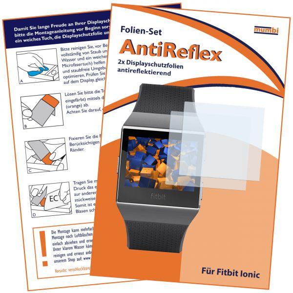 Displayschutzfolie 2 Stck. AntiReflex für Fitbit Ionic Smartwatch