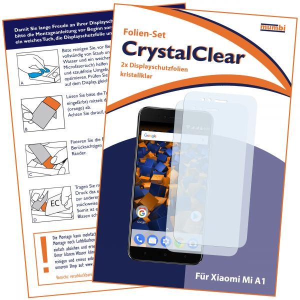Displayschutzfolie 2 Stck. CrystalClear für Xiaomi Mi A1