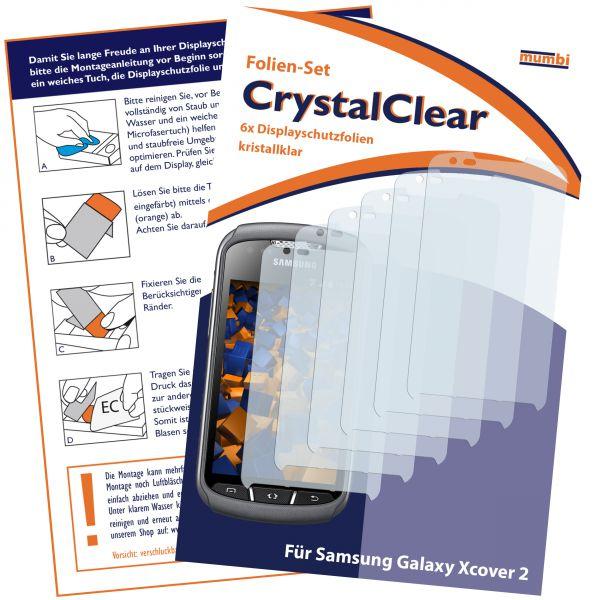 Displayschutzfolie 6 Stck. CrystalClear für Samsung Galaxy Xcover 2