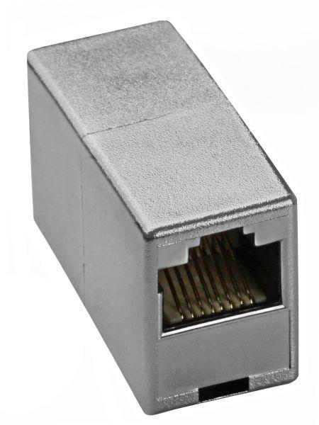 CAT 5e Ethernet Netzwerkkabel Verbinder silber