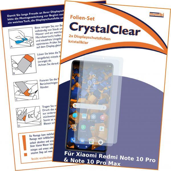 Displayschutzfolie 2 Stck CrystalClear für Xiaomi Redmi Note 10 Pro / Redmi Note 10 Pro Max