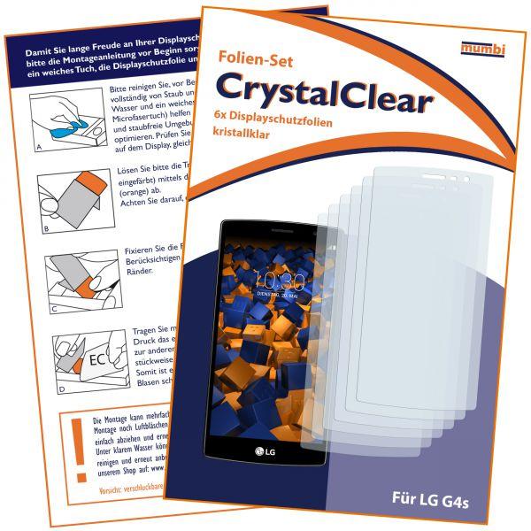 Displayschutzfolie 6 Stck. CrystalClear für LG G4s