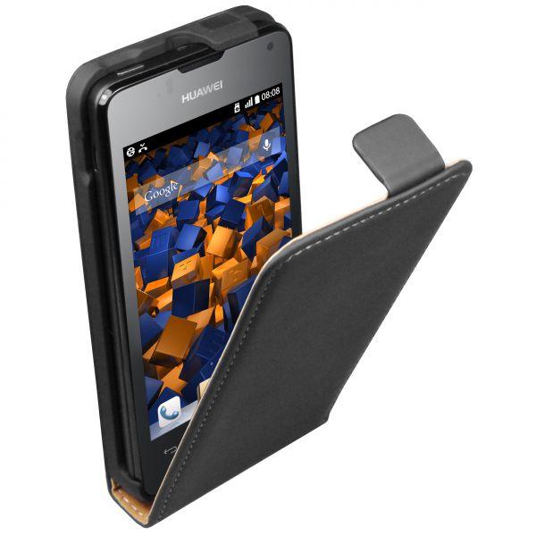 Flip Case Tasche schwarz für Huawei Ascend Y300