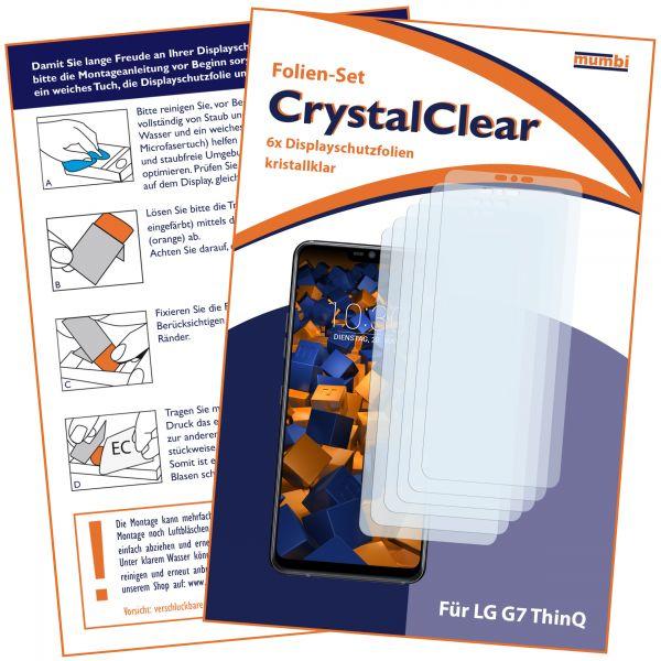 Displayschutzfolie 6 Stck. CrystalClear für LG G7 ThinQ