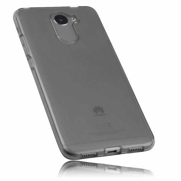 TPU Hülle schwarz transparent für Huawei Y7