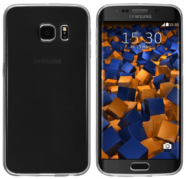 TPU Hülle Ultra Slim transparent schwarz für Samsung Galaxy S6 Edge