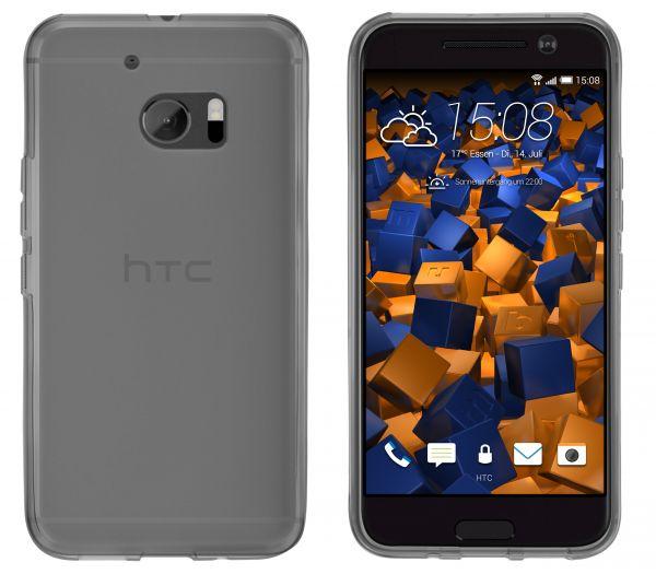 TPU Hülle schwarz transparent für HTC 10