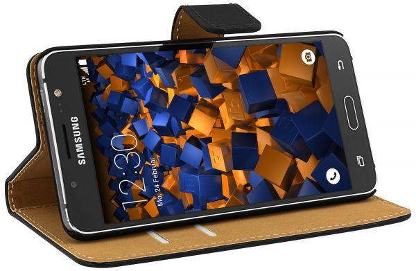 Bookstyle Tasche schwarz für Samsung Galaxy J5 (2016)
