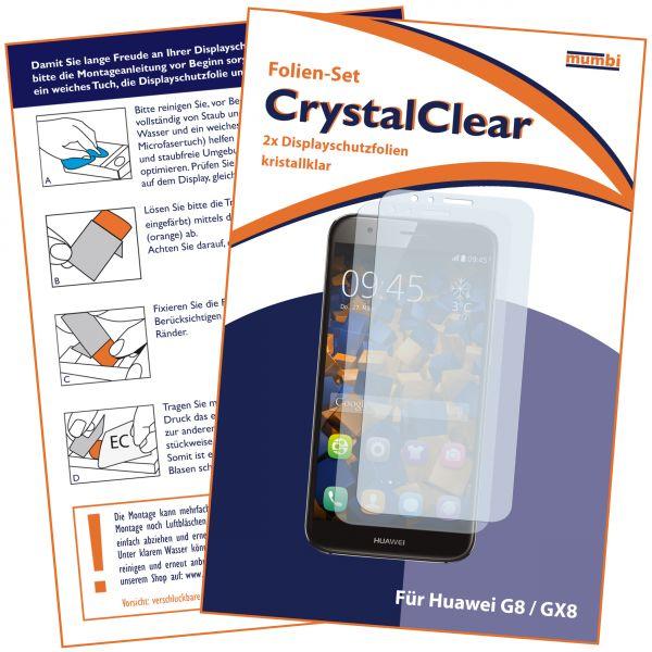 Displayschutzfolie 2 Stck. CrystalClear für Huawei G8 / GX8