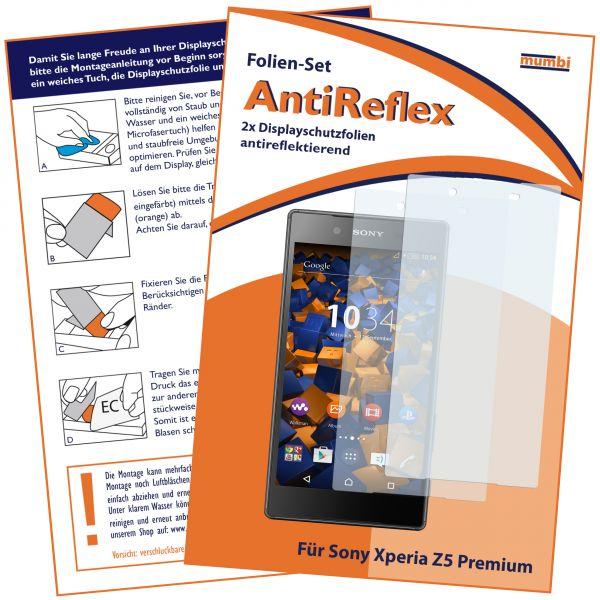Displayschutzfolie 2 Stck. AntiReflex für Sony Xperia Z5 Premium