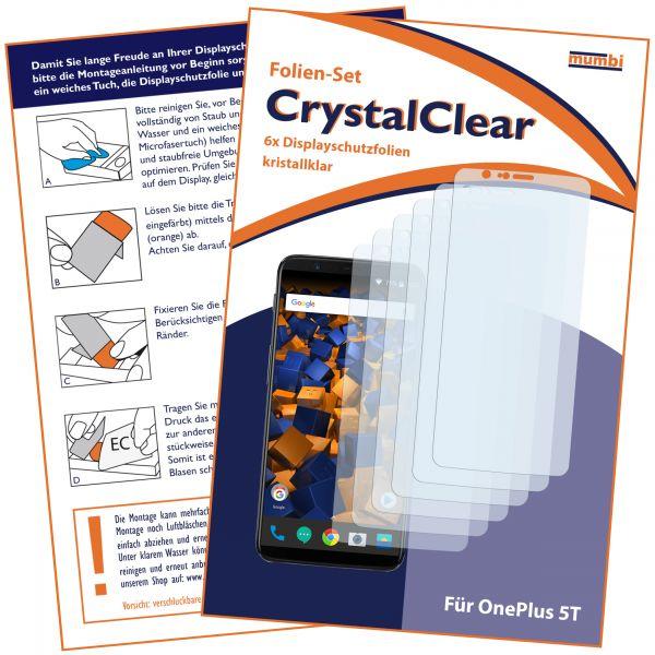 Displayschutzfolie 6 Stck. CrystalClear für OnePlus 5T