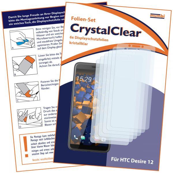 Displayschutzfolie 6 Stck. CrystalClear für HTC Desire 12