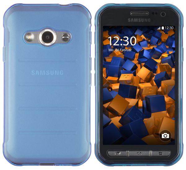 TPU Hülle blau transparent für Samsung Galaxy Xcover 3