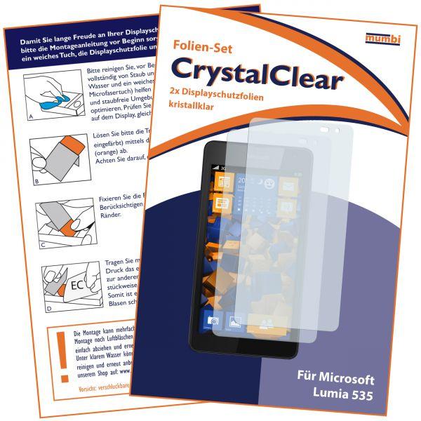 Displayschutzfolie 2 Stck. CrystalClear für Microsoft Lumia 535