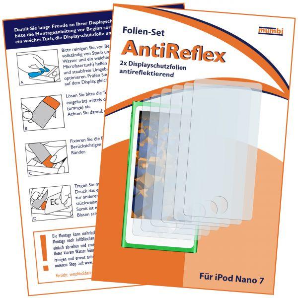Displayschutzfolie 6 Stck. AntiReflex für Apple iPod Nano 7G