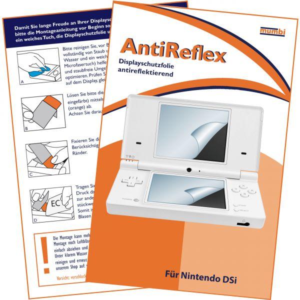 Displayschutzfolie für Bildschirm und Touchscreen 4 Stck. AntiReflex für Nintendo DSi