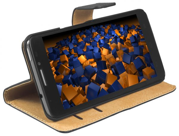 Bookstyle Tasche schwarz für Alcatel One Touch Idol X+