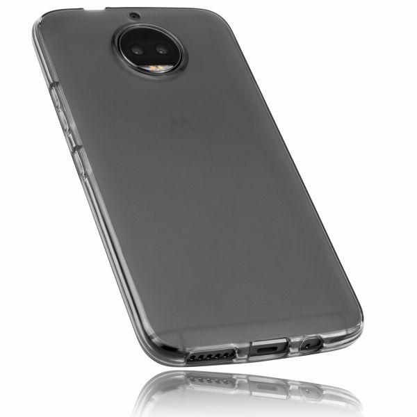 TPU Hülle schwarz transparent für Motorola Moto G5S Plus