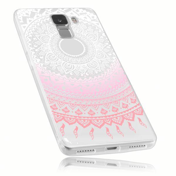 TPU Hülle rosa transparent Motiv Mandala für Huawei Honor 7
