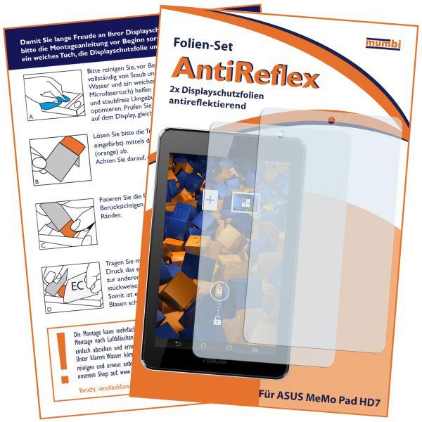 Displayschutzfolie 2 Stck. AntiReflex für Asus MeMo Pad HD7