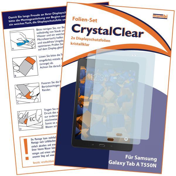 Displayschutzfolie 2 Stck. CrystalClear für Samsung Galaxy Tab A (9.7 Zoll)