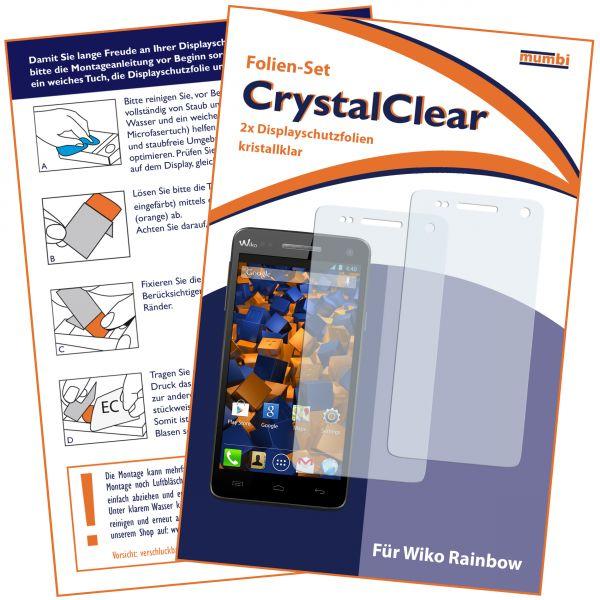 Displayschutzfolie 2 Stck. CrystalClear für Wiko Rainbow