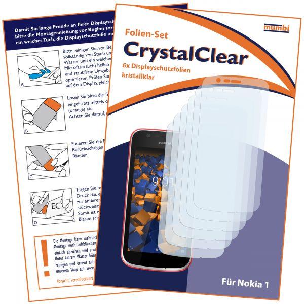 Displayschutzfolie 6 Stck. CrystalClear für Nokia 1