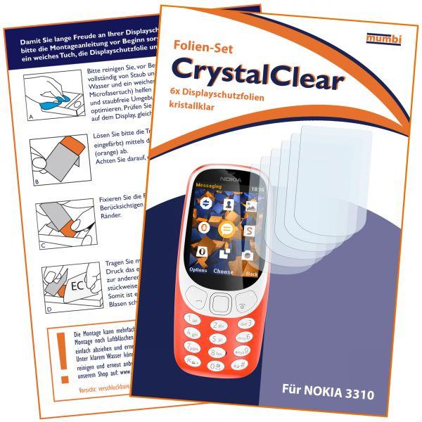 Displayschutzfolie 6 Stck. CrystalClear für für Nokia 3310