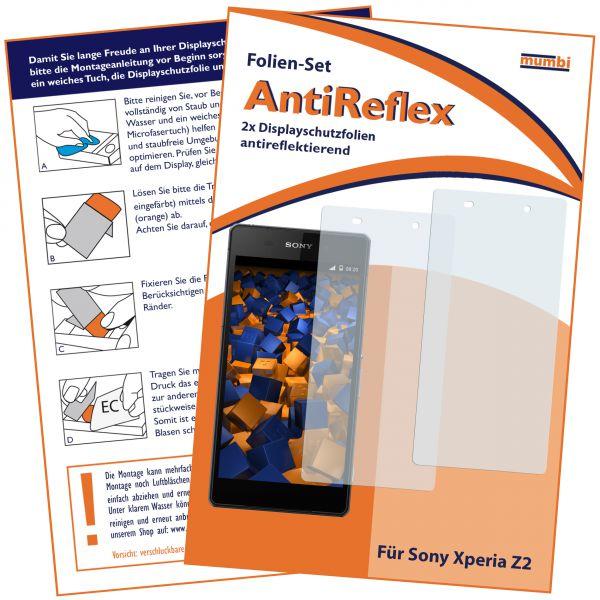 Displayschutzfolie 2 Stck. AntiReflex für Sony Xperia Z2