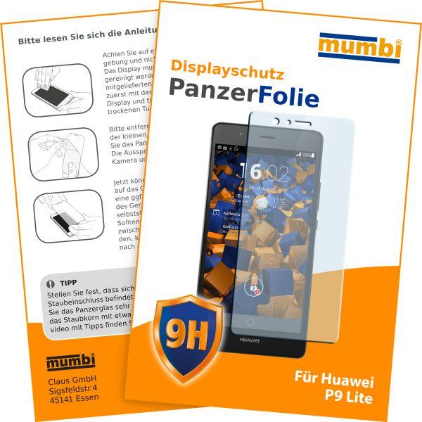 Panzerglasfolie Hartglas 9H für Huawei P9 Lite