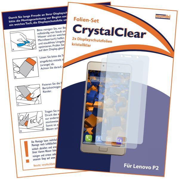 Displayschutzfolie 2 Stck. CrystalClear für Lenovo P2