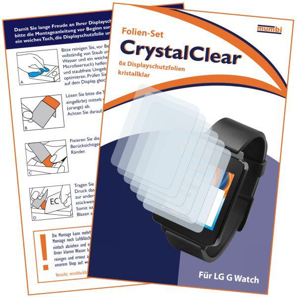 Displayschutzfolie 6 Stck. CrystalClear für LG G Watch