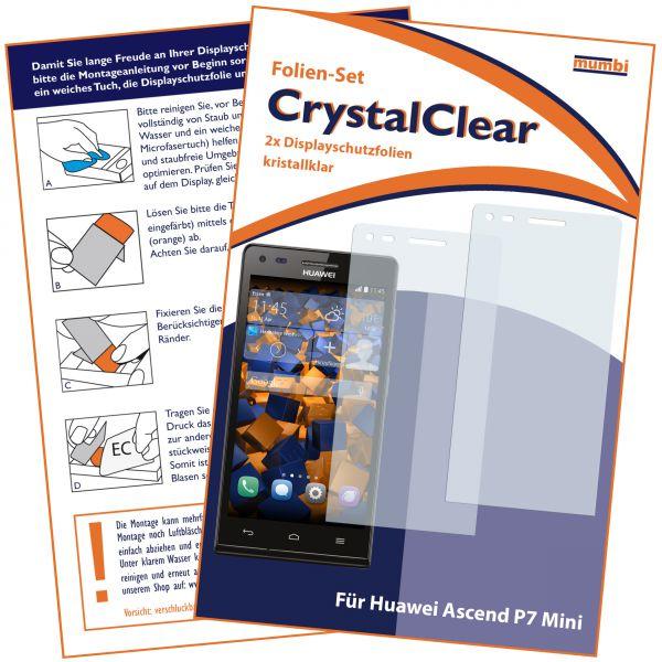 Displayschutzfolie 2 Stck. CrystalClear für Huawei Ascend P7 Mini