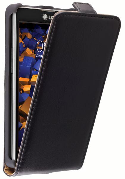 Flip Case Ledertasche schwarz für LG P760 Optimus L9