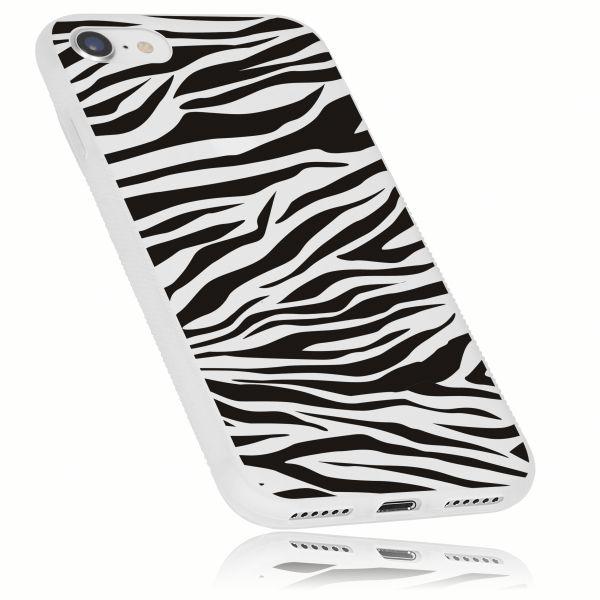 TPU Hülle Grip weiß transparent Motiv Zebra für Apple iPhone 8 / 7