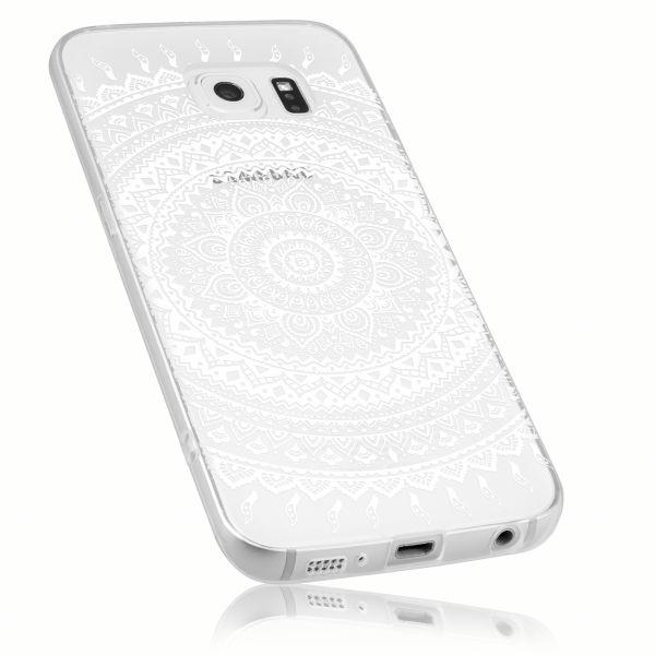 TPU Hülle transparent Motiv Mandala für Samsung Galaxy S6 Edge