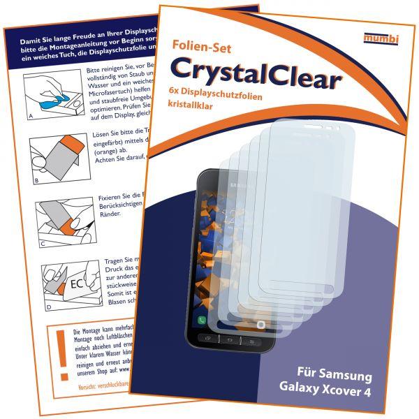 Displayschutzfolie 6 Stck. CrystalClear für Samsung Galaxy Xcover 4 / 4s