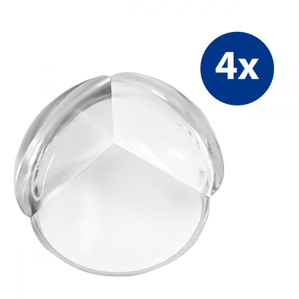 Kantenschutz Eckenschutz rund 4er Set transparent mit Klebefolien