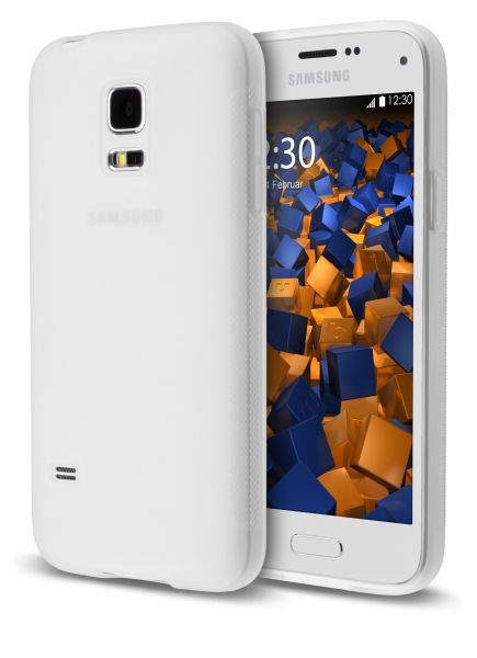 TPU Hülle double GRIP weiß transparent für Samsung Galaxy S5 mini