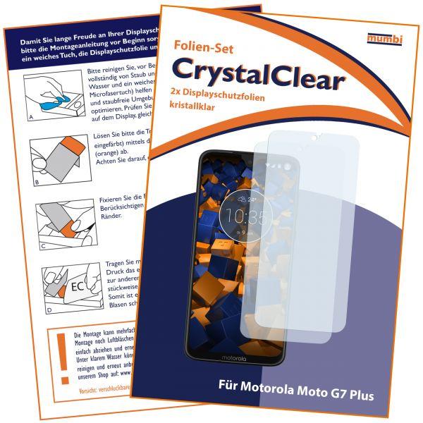 Displayschutzfolie 2 Stck. CrystalClear für Motorola Moto G7 Plus
