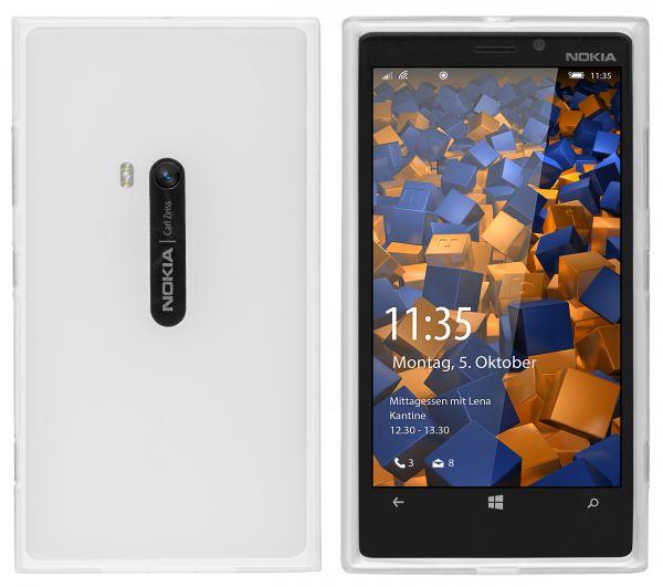 TPU Hülle transparent weiß für Nokia Lumia 920