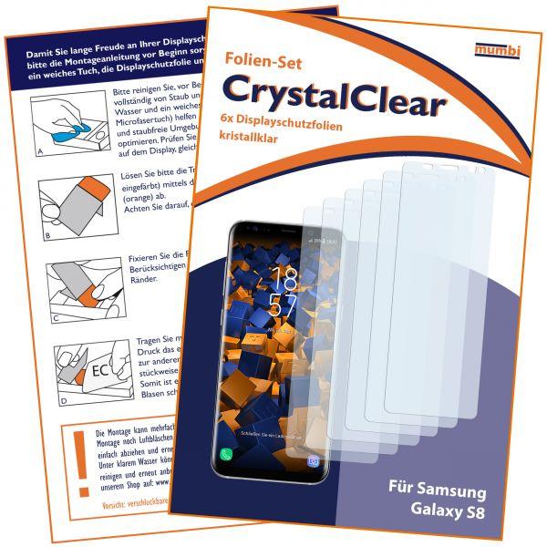 Displayschutzfolie 6 Stck. CrystalClear für Samsung Galaxy S8