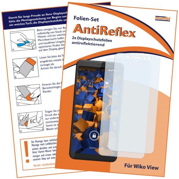 Displayschutzfolie 2 Stck. AntiReflex für Wiko VIEW