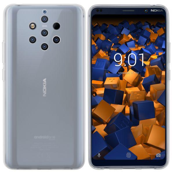 TPU Hülle weiß transparent für Nokia 9 PureView